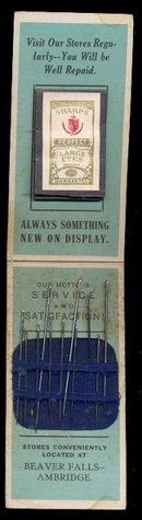 Martsolf Furniture 1910 Beaver Falls Needle Book