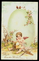 PFB Child Angel with Easter Egg 1906 Postcard