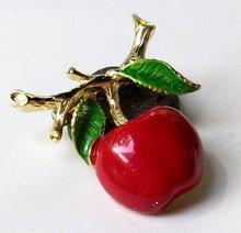 Vintage Gerry Cherry Fruit Brooch