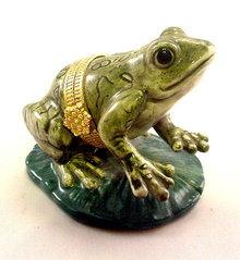 Vintage Porcelain Frog Limoges Style Box