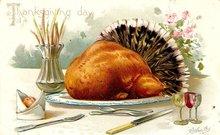 Ellen Clapsaddle Thanksgiving Turkey 1908 Postcard