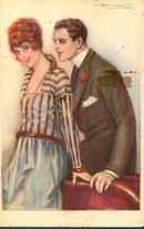 Art Deco Nanni S Bompard Couple 1920 Postcard