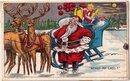 1911 Santa Claus wih Toys in Sleigh Postcard