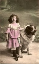 Great 1907 Saint Bernard Dog Artist Postcard 2
