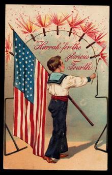 PFB 1907 Child with Flag July 4th Postcard