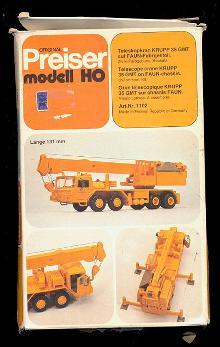 Preiser modell HO Telescope Crane Kit