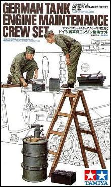 Tamiya German Tank Engine Maintenance Crew Kit