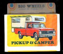 1971 Big Wheels Lindberg Pickup & Trailer Mint in Box