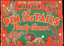 1930s 'Pin the Tails' Party Game - Paper