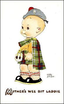 Mabel Lucie Attwell Mither's Wee Bit Laddie Postcard