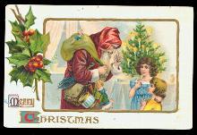 1916 Santa Claus with Children & Toys Postcard