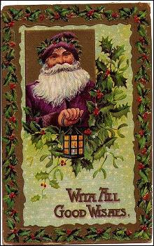 Santa Claus with Reindeer 1907 Postcard
