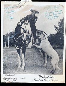 1960 Signed Cisco Kid Duncan Renaldo Photo