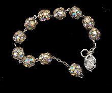 Vintage Aurora Borealis Stones Ball Bracelet