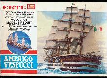 1970 Ertl Amerigo Vespucci 1/350 Ship Model Kit