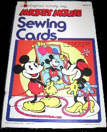 1970 Mickey Mouse Sewing Cards Color forms