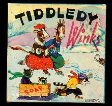 1920s Milton Bradley 'Tiddledy Winks' Game