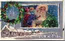 Santa Claus in Blue Coat with Toys 1908 Postcard