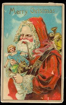 Santa Claus in Robe /Father Christmas 1912 Postcard u