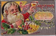 A Merry Christmas Santa Claus 1910 Postcard