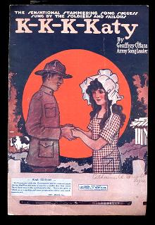 Patriotic 'K-K-K-Katy' 1918 Sheet Music