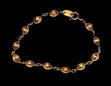 Avon Gold Tone Ball & Link Vintage Bracelet