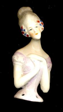 1920s Bisque/Porcelain Japan Half Doll