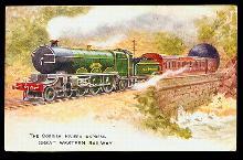 Tucks Cornish Riviera Express GWN Train Postcard