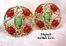 1960s Sarah Coventry 'Acapulco' Brooch & Earrings