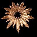 Vintage Gold Tone Avon Flower 3