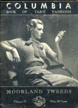 1935 Columbia Book of Yarn Fashions Crochet Book