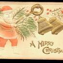 Santa Claus Embossed with Bells 1913 Postcard