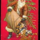 Santa Claus with Toys 1907 Postcard