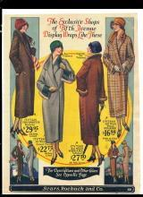 1920s Women's Coats Sears Color Ad