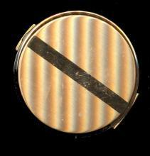 1950s Volupte Goldtone Round Compact