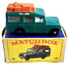 1960s Matchbox No 12 Safari Land Rover in Box