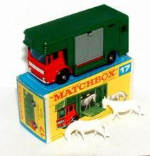 1960s Matchbox No 17 Horse Box in Box