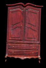 Great Vintage Dollhouse Mahogany Wardrobe