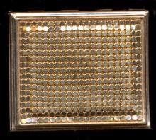 1950s Gold Tone Mesh Front Compact