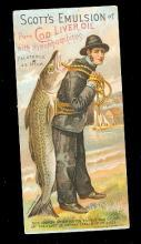 1880s Scott's Emulsion Boy with Fish Trade Card