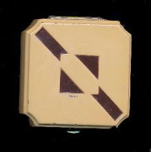 Art Deco Brown Square Flair Lanchere Compact