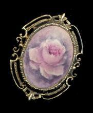 1973 Jean Brucket Hand Painted Signed Brooch