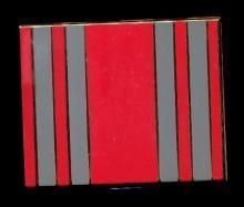 Art Deco Red & Gray Elgin American Compact