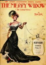 1907 The Merry Widow Dance Folio Sheet Music