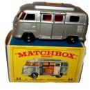 1960s Matchbox No 34 Volkswagen Camper in Box
