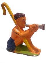 (M155) Manoil Happy Farm Shepherd & Flute