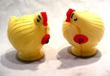 1950s Hard Plastic Chickens Salt & Pepper Shakers