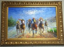 racing horse oil painting