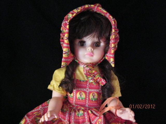 1960 sunmaid raisin doll