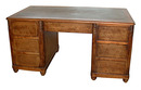 10.4381 19th C. French Desk With Inlaid Borders
